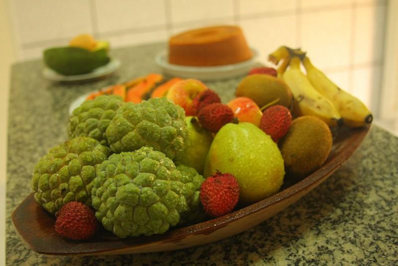 Frutas disponíves.