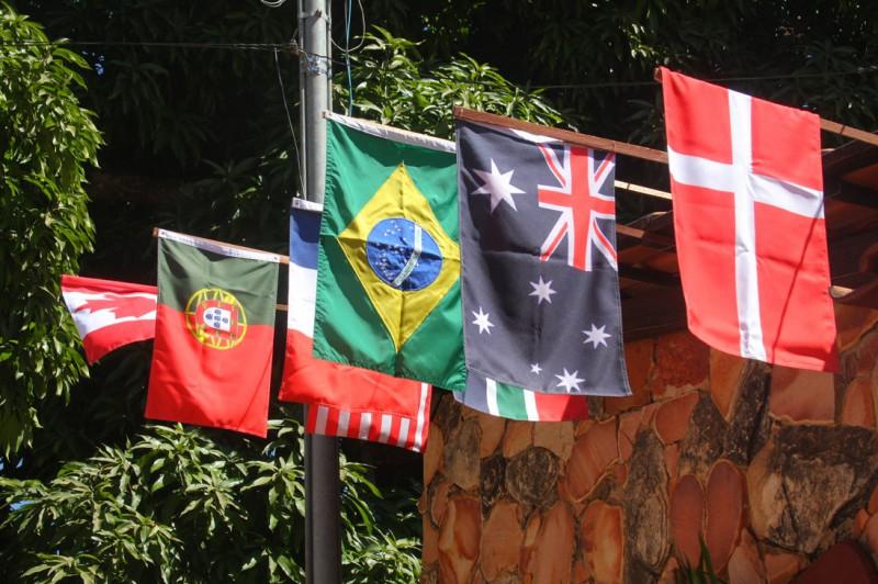 Bandeiras das nações.